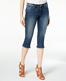 Kut from the Kloth Petite Natalie Cropped Frayed-Hem Jeans