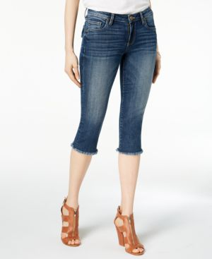 Kut from the Kloth Petite Natalie Cropped Frayed-Hem Jeans 5690369