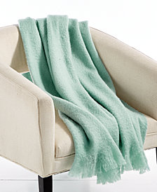 "LAST ACT! Lacourte Mohair Seafoam 50"" x 60"" Throw, Created for Macy's"
