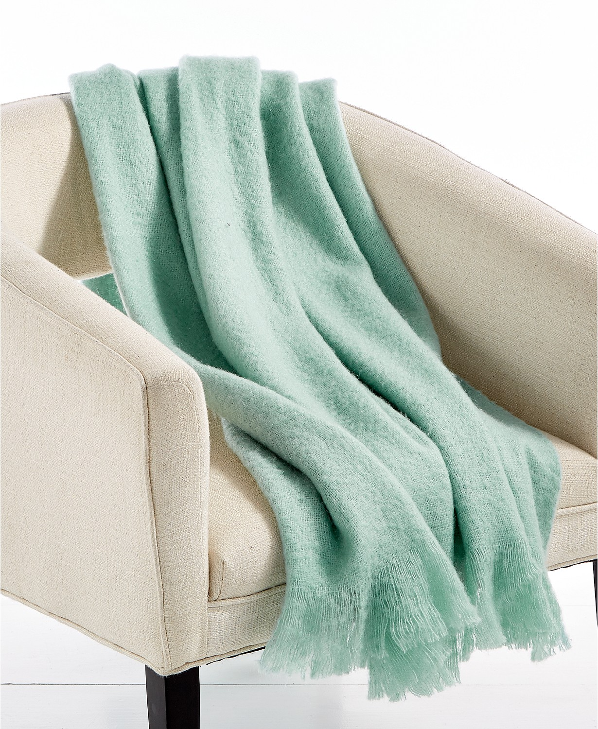 "Lacourte LAST ACT! Mohair Seafoam 50"" x 60"" Throw"