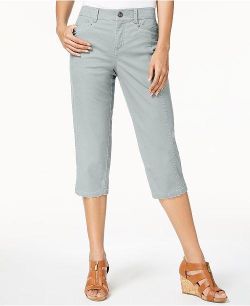 Style & Co Split-Hem Capri Pants, Created for Macy's