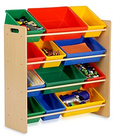 Kids Toy Room Organizer with Totes, 12 Bins