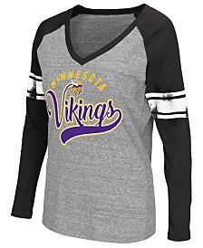 G-III Sports Women's Minnesota Vikings Raglan Long Sleeve T-Shirt