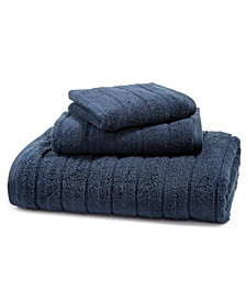 LAST ACT! Juliette LaBlanc Cotton Zero Twist Ribbed Solid Bath Towel