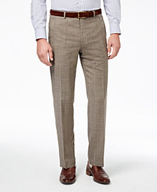 CLOSEOUT! Lauren Ralph Lauren Men's Slim-Fit Ultraflex Stretch Tan Check Suit Pants