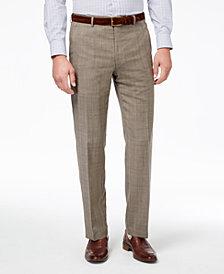 Lauren Ralph Lauren Men's Slim-Fit Ultraflex Stretch Tan Check Suit Pants