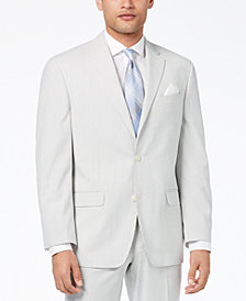 Sean John Men's Classic-Fit Stretch Gray Stripe Seersucker Suit Jacket