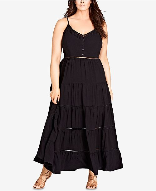 City Chic Trendy Plus Size Maxi Dress - Dresses - Plus Sizes - Macy\'s