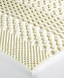 Martha Stewart Essentials 7-Zone Queen Memory Foam Mattress Topper, Created for Macy's