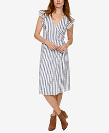 Lucky Brand Cotton Striped Wrap Dress
