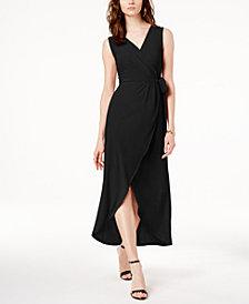 I.N.C. Faux-Wrap Tulip-Hem Dress, Created for Macy's