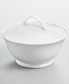 Whiteware Covered Vegetable Bowl