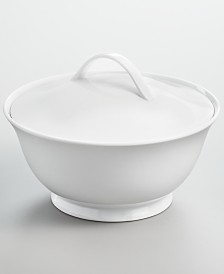 Martha Stewart Collection Whiteware Covered Vegetable Bowl