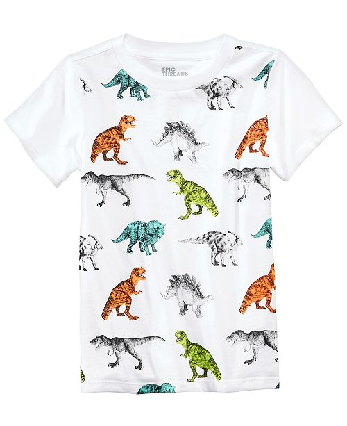 b9eb4bad7127 ... Epic Threads Dinosaur Graphic-Print T-Shirt, Little Boys, Created for  Macy's ...