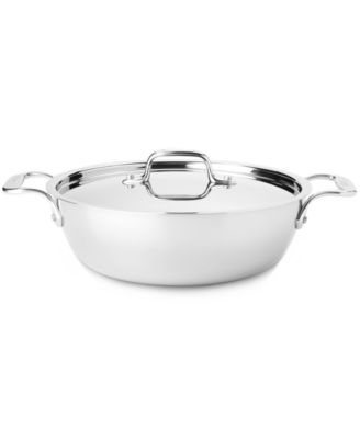 allclad stainless steel 3 qt covered cassoulet