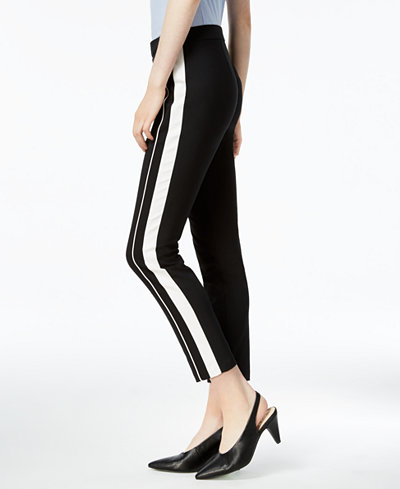 Bar III Tuxedo Striped Pants, Created for Macy's