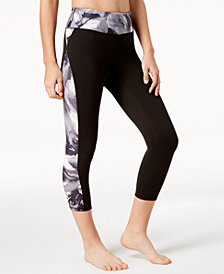 Gaiam Om Luxe Printed Capri Leggings