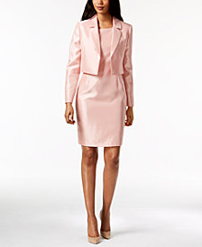 Le Suit Shimmer Sheath Dress & Jacket