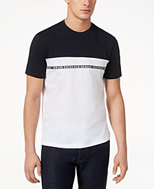 A|X Armani Exchange Men's Colorblocked Logo-T-Shirt, Created for Macy's