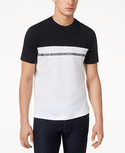Armani Exchange Men's Colorblocked Logo-T-Shirt, Created for Macy's