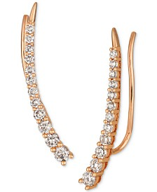 Le Vian Strawberry & Nude™ Diamond Climber Earrings (5/8 ct. t.w.) in 14k Rose Gold