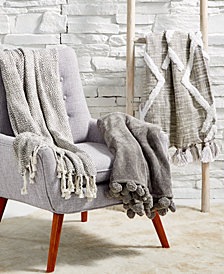 LAST ACT! Lacourte Gray Throw Collection, Created for Macy's