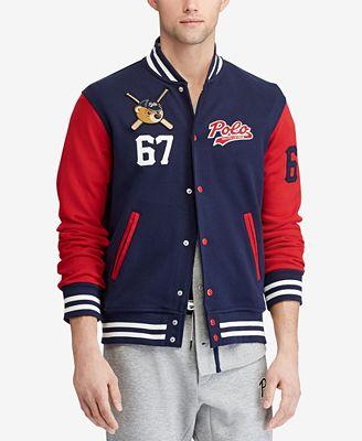 Polo Ralph Lauren Men's Polo Bear Baseball Jacket, Created for ...