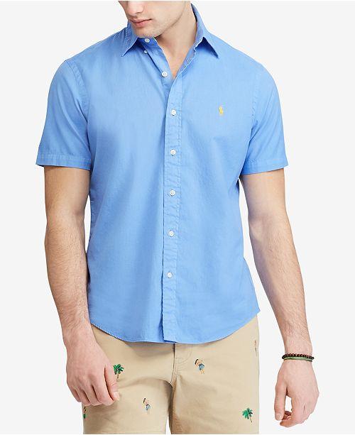 e55f8237 Polo Ralph Lauren Men's Classic Fit Twill Shirt & Reviews - Casual ...