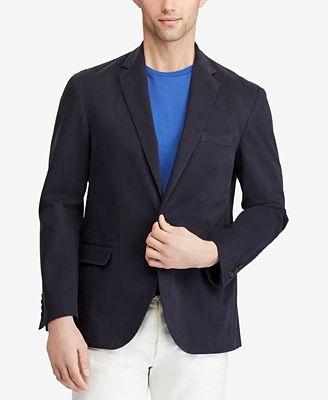 Polo Ralph Lauren Mens Stretch Chino Sport Coat Blazers Sport