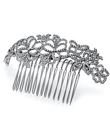 I.N.C. Woman Silver-Tone Pavé Floral Hair Comb, Created for Macy's