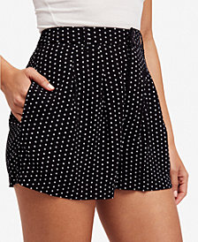 Free People Magdalene High-Waist Polka-Dot Shorts