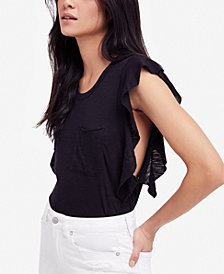 Free People So Easy Flutter-Sleeve T-Shirt