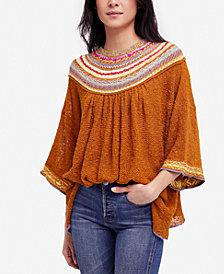 Free People Vacation Embroidered Sweater
