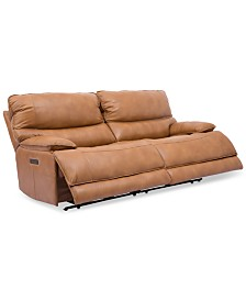 Woodyn 90 2 Pc Leather Reclining Sofa With