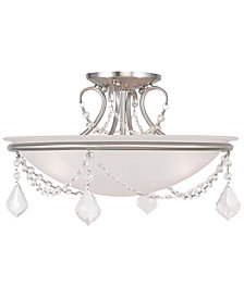 Livex Chesterfield and Pennington 3-Light Flush Mount