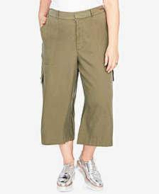 RACHEL Rachel Roy Trendy Plus Size Wide-Leg Cargo Pants