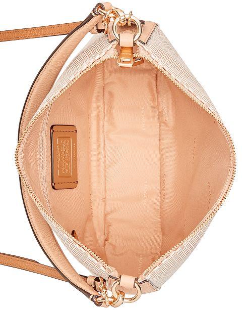 5474ffd07977 COACH Legacy Jacquard Chelsea Crossbody Hobo   Reviews - Handbags ...