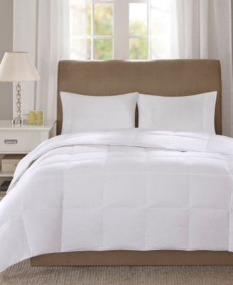 Level 1 300 Thread Count Cotton Sateen White Twin Down Comforter with 3M Scotchgard