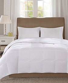 Level 1 300 Thread Count Cotton Sateen White Full/Queen Down Comforter with 3M Scotchgard