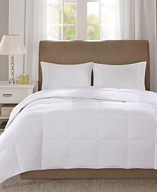 True North by Sleep Philosophy Level 1 300 Thread Count Cotton Sateen White King Down Comforter with 3M Scotchgard