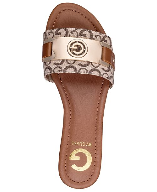 958dd77abeb7 G by GUESS Jeena Slide Flat Sandals   Reviews - Sandals   Flip Flops ...