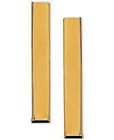 Polished Stick Stud Earrings in 10k Gold, 3/4 inch