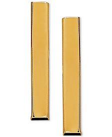 Polished Stick Stud Earrings in 10k Gold, 3/4 inch