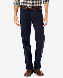 Dockers Men's Dobby Straight Fit Soft Stretch Pants