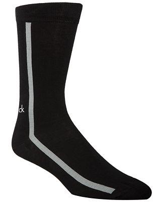 Calvin Klein Men's Single-Stripe Socks