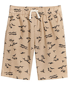 Epic Threads Palm-Print Cotton Shorts, Little Boys, Created for Macy's