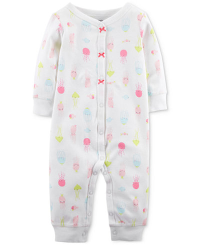 Carter's 1-Pc. Printed Cotton Coverall, Baby Girls