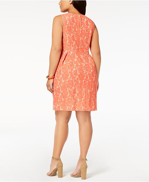 Jessica Howard Plus Size Lace A Line Dress Dresses Women Macys