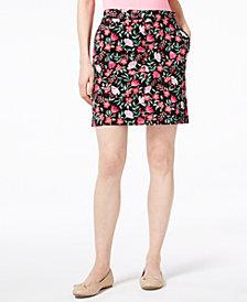 Karen Scott Petite Floral-Print Skort, Created for Macy's