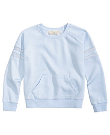 Pink Republic Mesh Stripe Sweatshirt, Big Girls